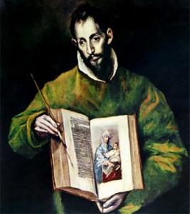 San Lucas Evangelista  (óleo de El Greco)
